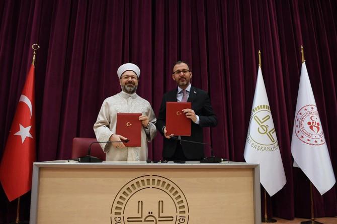 Gençlik ve Spor Bakanlığı ile Diyanet arasında iş birliği protokolü