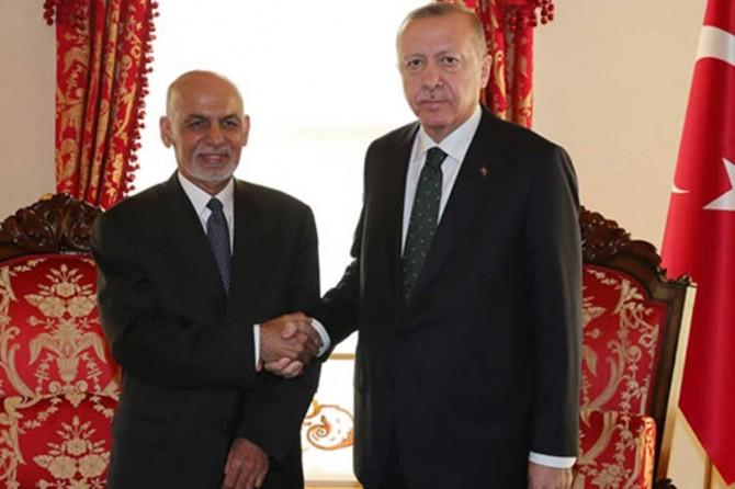 Cumhurbaşkanı Erdoğan Afganistan Cumhurbaşkanı Gani ile görüştü