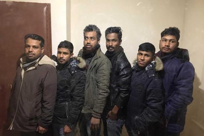 Batman'da Bangladeş uyruklu 6 düzensiz göçmen yakalandı