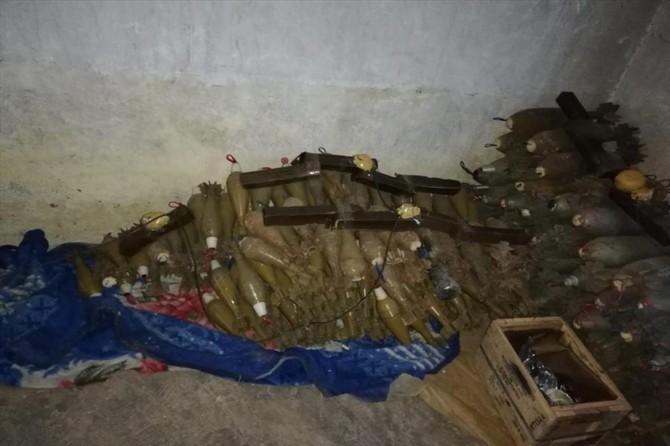 MSB: Rasulayn'da bir eve tuzaklanan 565 havan mühimmatı imha edildi