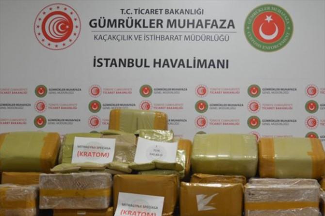 İstanbul Havalimanı'nda 1,7 ton uyuşturucu ele geçirildi