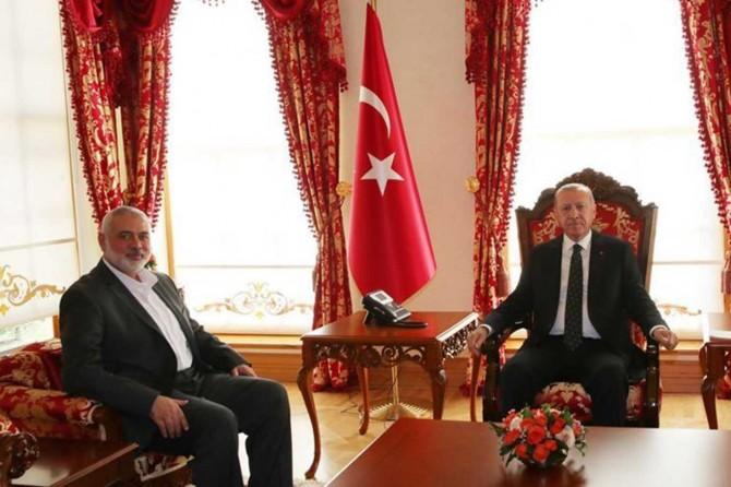 Cumhurbaşkanı Erdoğan İsmail Heniyye'yi kabul etti