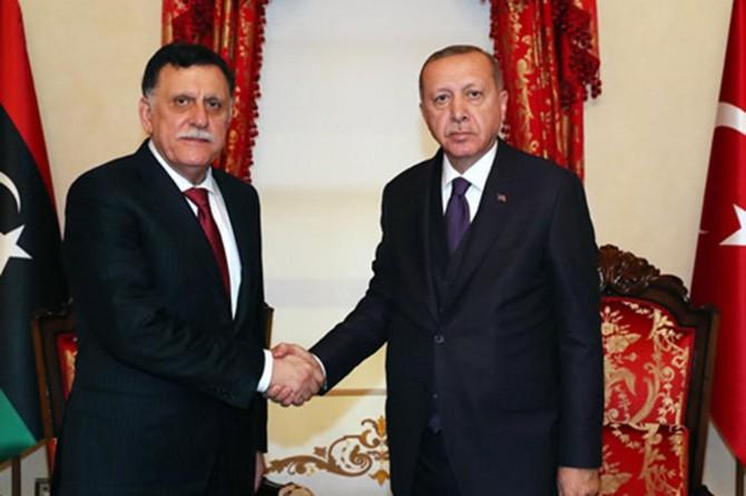 Cumhurbaşkanı Erdoğan, Sarraj ile görüştü