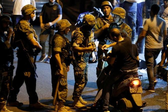 Lübnan'daki eylemlere polis müdahalesi