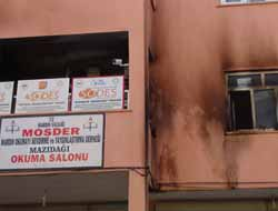 Mazıdağı'nda MOSDER'e Molotoflu Saldırı