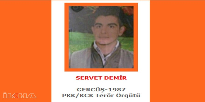 Turuncu listede aranan PKK'li öldürüldü