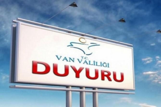 Van'da bazı eylem ve etkinlikler 15 gün süreyle yasaklandı