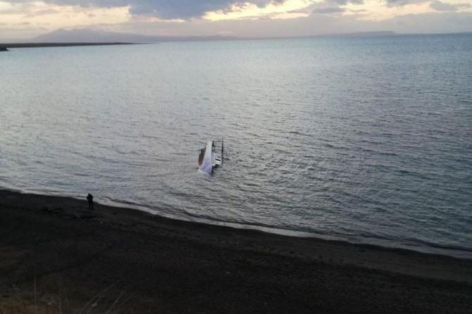 Adilcevaz'da alabora olan teknede 7 göçmen hayatını kaybetti