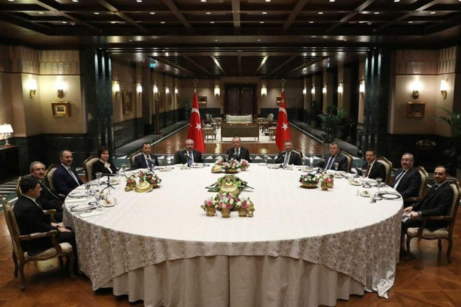 Yasama, yürütme ve yargı organlarının temsilcileri Cumhurbaşkanlığı Külliyesinde