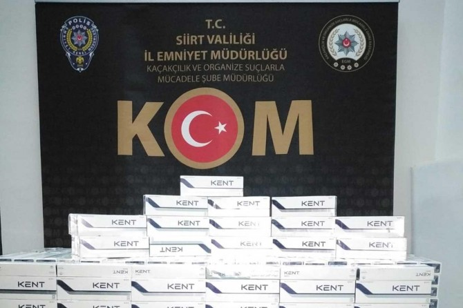 Siirt'te 3 bin 400 paket gümrük kaçağı sigara ele geçirildi