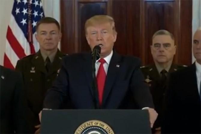 Trump: Dün geceki saldırıda hiçbir ABD'li zarar görmedi