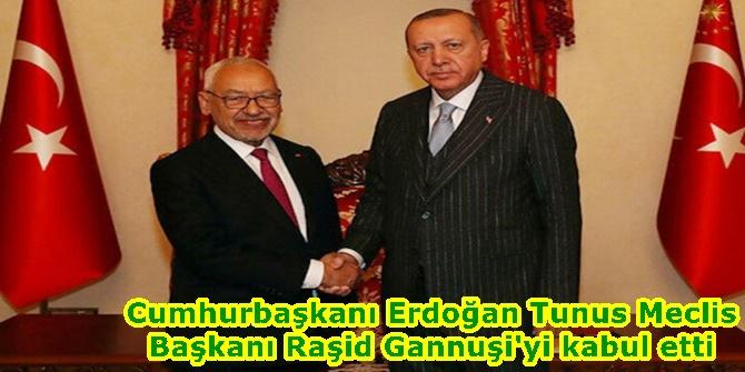 Cumhurbaşkanı Erdoğan Tunus Meclis Başkanı Raşid Gannuşi'yi kabul etti