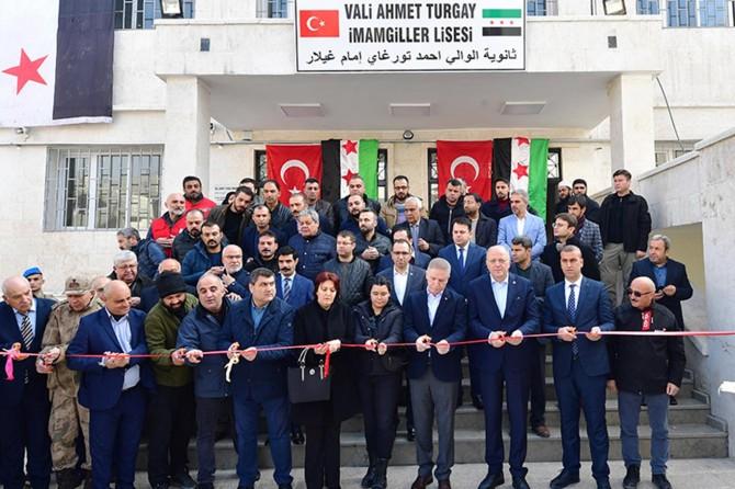 Cerablus'ta 33 derslikli okul törenle açıldı