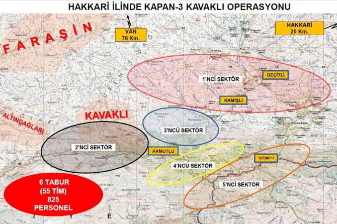 Hakkâri'de Kapan-3 Kavaklı Operasyonu başlatıldı