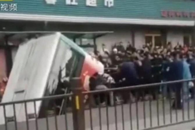 Çin'de otobüs kazası