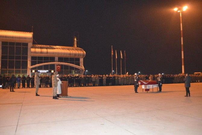 Ağrı'da hayatını kaybeden askerin cenazesi memleketine gönderildi