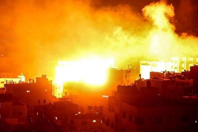 İşgalci terör rejimi Gazze'deki altyapı tesislerini hedef aldı