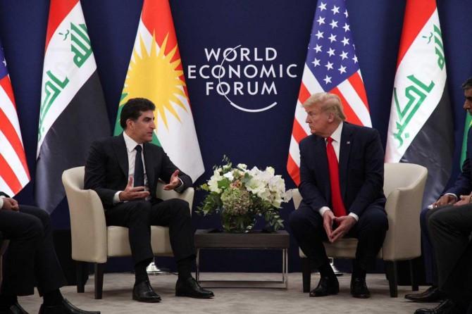 Trump ile Neçirvan Barzani İsviçre'nin Davos kasabasında görüştü