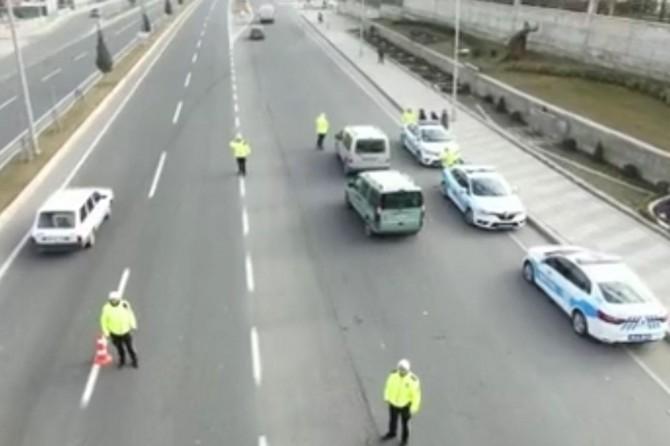 Drone destekli yapılan denetimlerde 32 sürücüye ceza kesildi