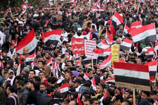 Millions of Iraqis take to streets to protest against US military presence in the Country