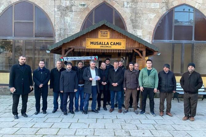 Kudüs Müftüsünün Mescid-i Aksaya girişini yasaklayan karar protesto edildi