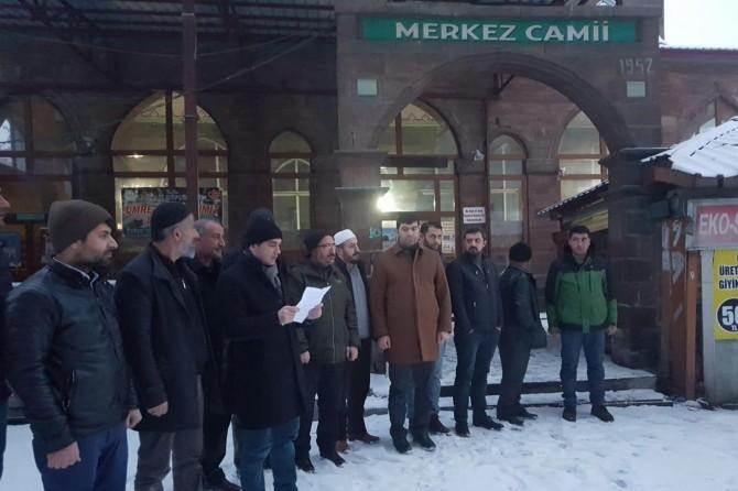 Ağrı'daki STK'lar, Mescid-i Aksa için sabah namazında bir araya geldi
