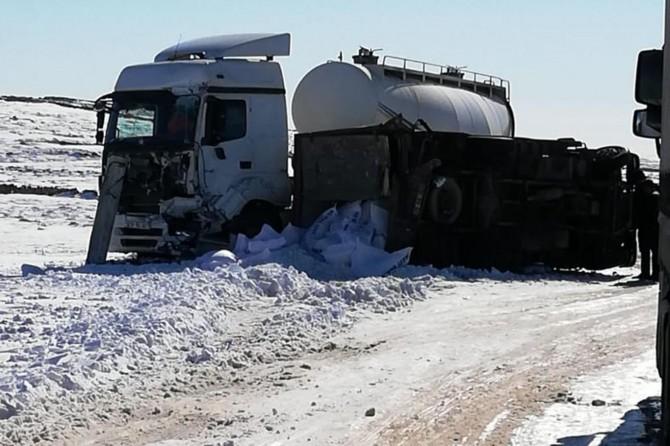Mardin'de kar ve buzlanma kazaya neden oldu