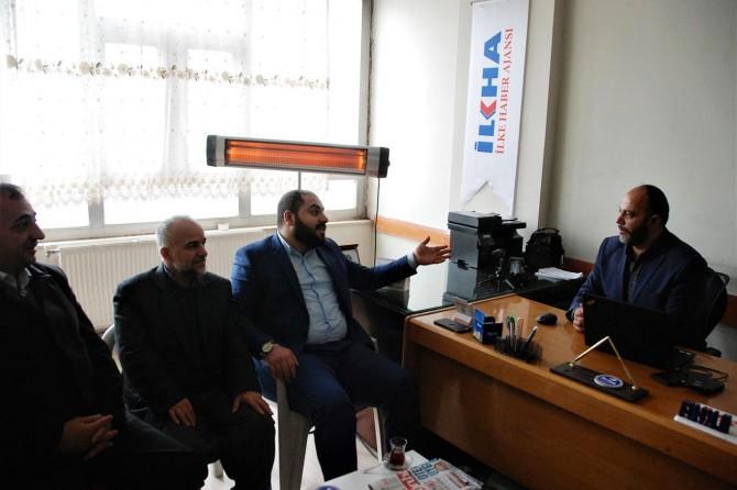 Saadet Partisi'nden bir heyet İLKHA'yı ziyaret etti