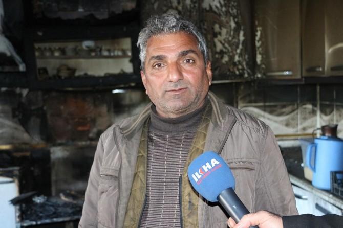 Mardin'de evi yanan aile yardım bekliyor