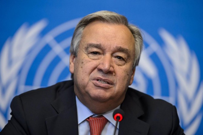 Guterres offers his condolences to the families of the earthquake victims in Turkey