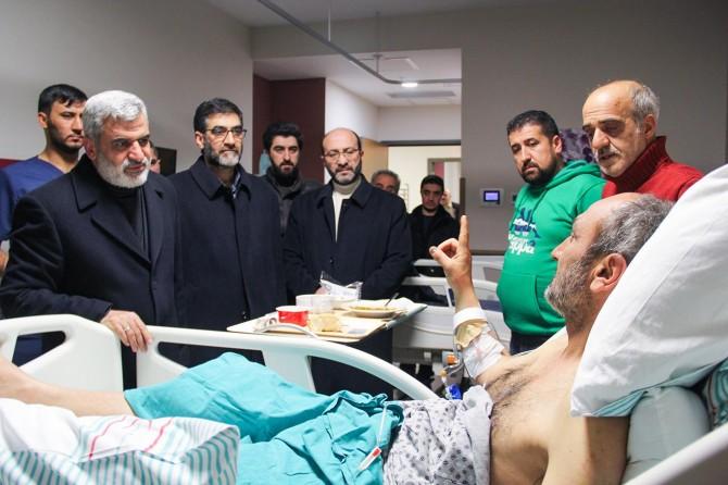 Depremde yakınlarını kaybeden yaralılar, yaşadıklarını HÜDA PAR heyetine anlattı