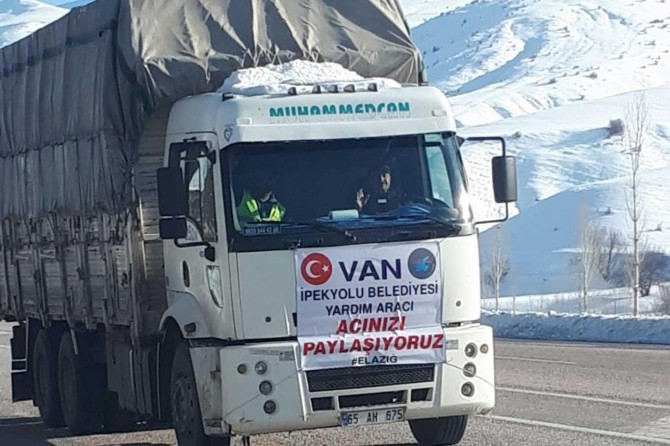İpekyolu Belediyesinden Elazığ'daki depremzedelere bir yardım tırı daha