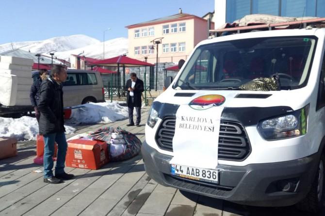 Bingöl'den deprem mağdurlarına yardımlar devam ediyor