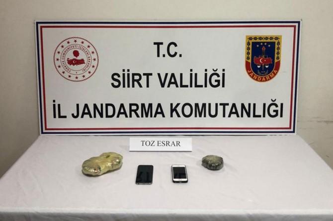 Siirt'te uyuşturucu satıcılarına yönelik operasyonlarda 2 kişi gözaltına alındı
