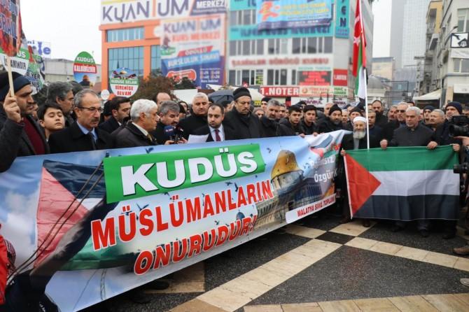 Malatya'daki STK'lardan işgalci ABD Başkanı Trump'ın şer kararına tepki