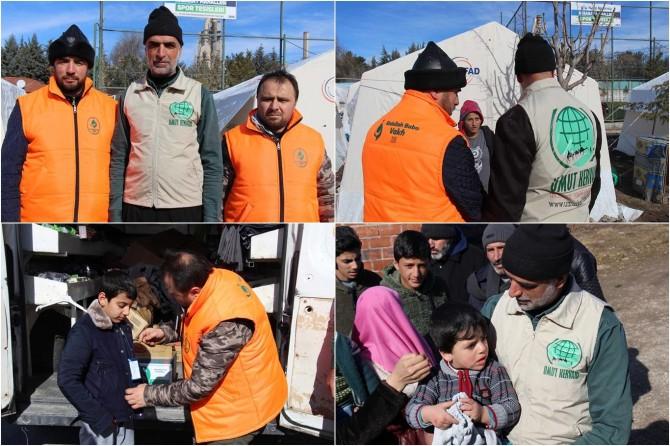 Konya'dan gelen yardımlar depremzedelere dağıtıldı
