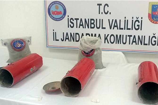 Yangın tüplerine gizlenmiş 10 kilo eroin ele geçirildi