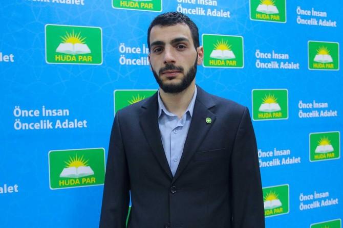 Hür Gençlik Diyarbakır İl Başkanı İleri'den 4 dilde Kudüs mitingine davet