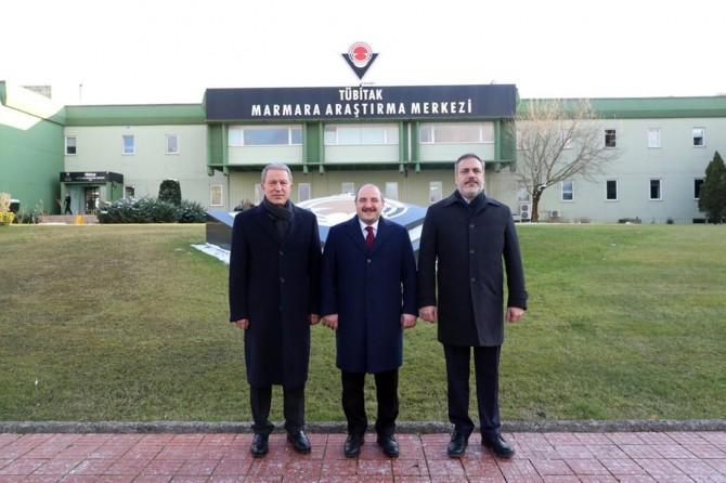 Bakanlar Akar ve Varank ile MİT Başkanı Fidan'dan TÜBİTAK'a ziyaret