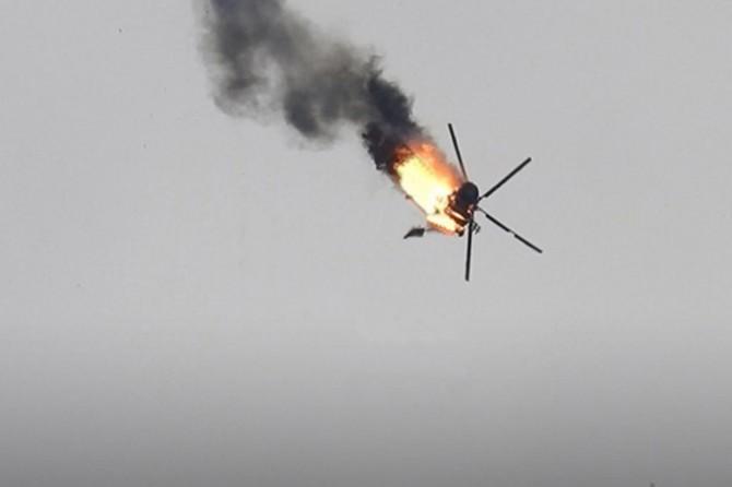 Muhalifler, Suriye rejimine ait helikopteri düşürdü
