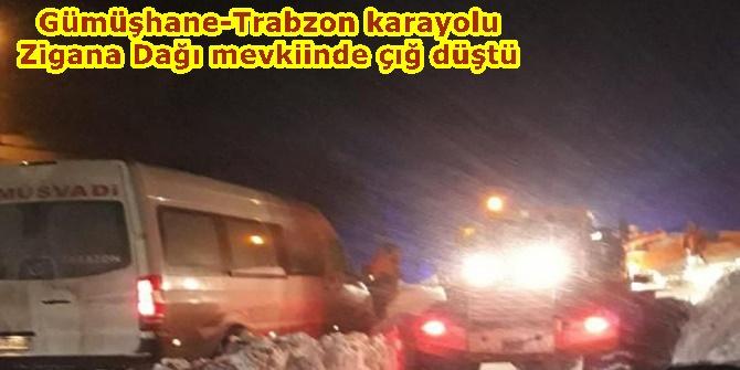 Gümüşhane-Trabzon karayolu Zigana Dağı mevkiinde çığ düştü