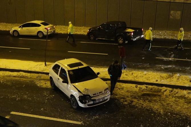 Diyarbakır'da buzlanma kazaya neden oldu