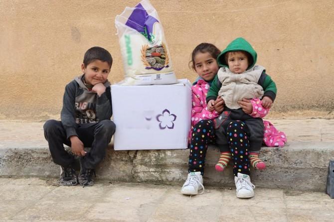 'Barış Pınarı Harekâtı' ile kontrol altına alınan bölgede insani yardım çalışmaları
