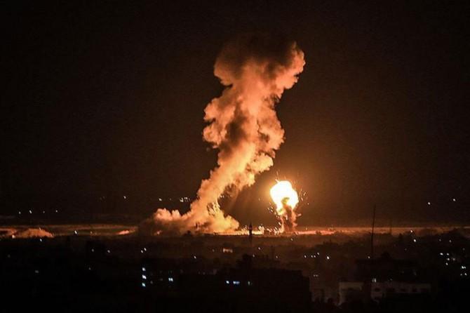 Siyonist işgalcilerden Gazze'ye hava saldırısı