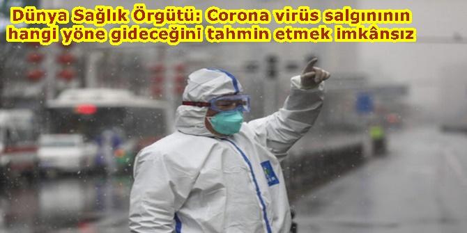 Dünya Sağlık Örgütü: Corona virüs salgınının hangi yöne gideceğini tahmin etmek imkânsız