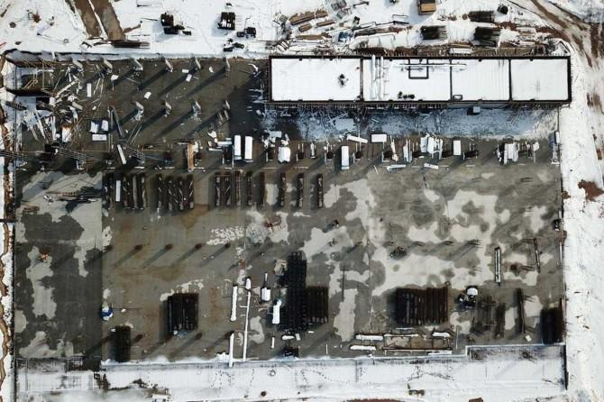 Malatya'da kuru Kayısı Lisanslı Depoculuk projesinin inşaat çalışmaları devam ediyor