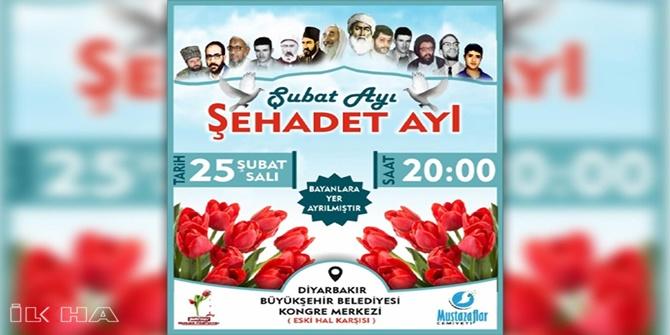 """Diyarbekirê dê bernameya """"Şeva Şehîdan"""" bê tertîpkirin"""