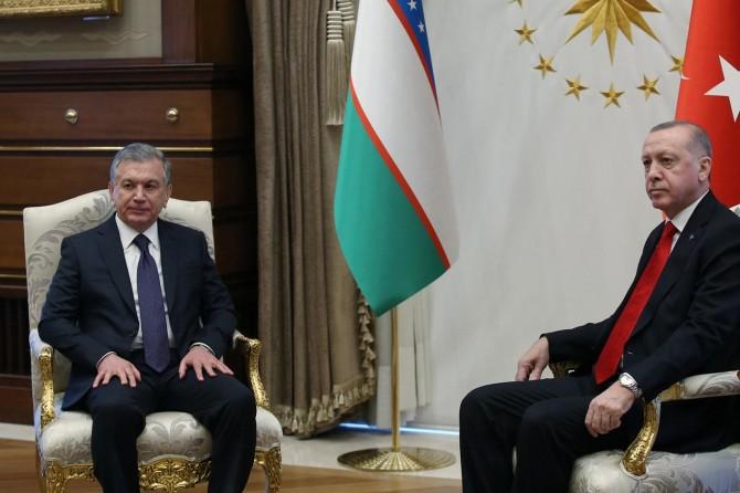 Özbekistan Cumhurbaşkanı Mirziyoyev, Ankara'da