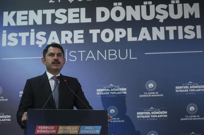 """Bakan Kurum: """"İstanbul'da riskli binaların yıkım sürecini başlatıyoruz"""""""