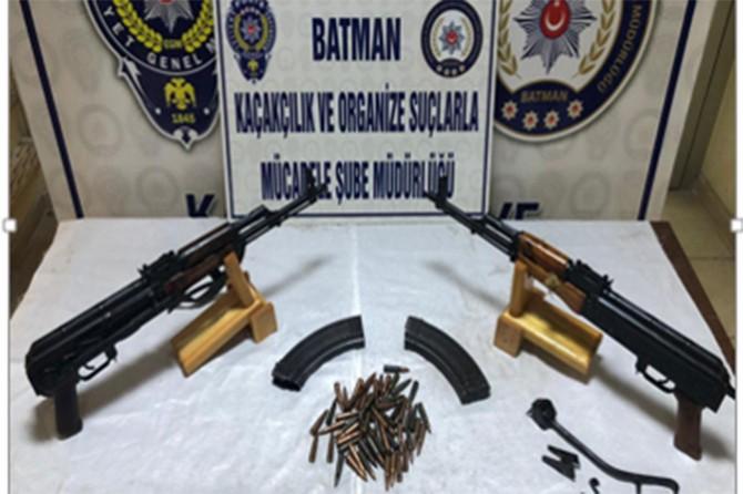Batman'da silah ticareti yapmak suçundan 5 kişi tutuklandı